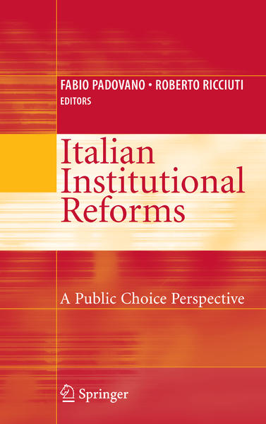 Italian Institutional Reforms: A Public Choice Perspective - Coverbild