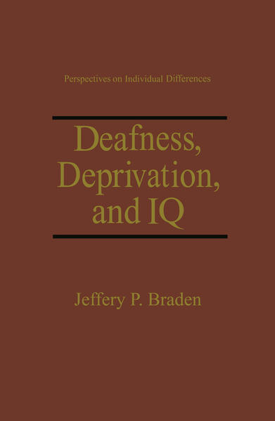 Deafness, Deprivation, and IQ - Coverbild