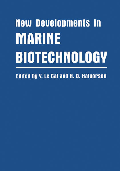New Developments in Marine Biotechnology - Coverbild