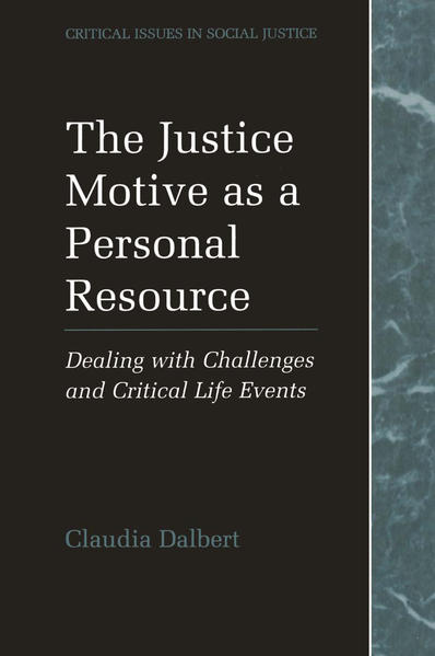 The Justice Motive as a Personal Resource - Coverbild