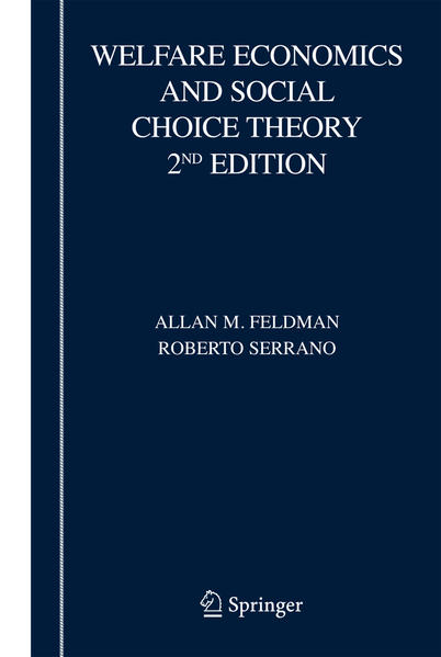 Welfare Economics and Social Choice Theory - Coverbild