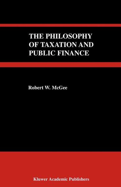 The Philosophy of Taxation and Public Finance - Coverbild