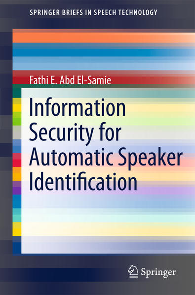 Information Security for Automatic Speaker Identification - Coverbild