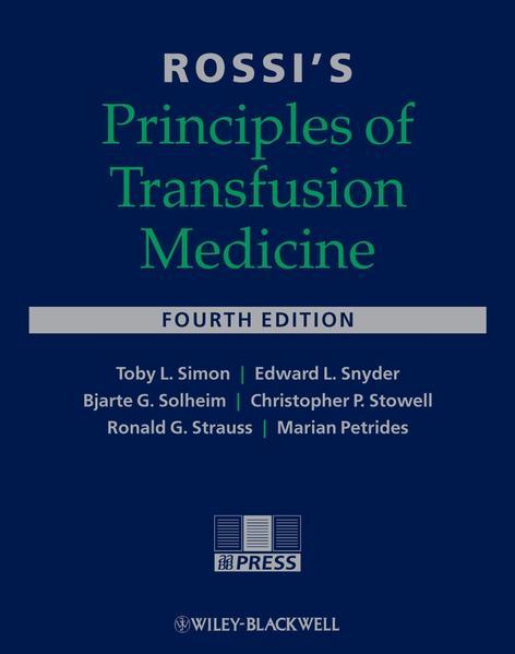 Rossi's Principles of Transfusion Medicine - Coverbild
