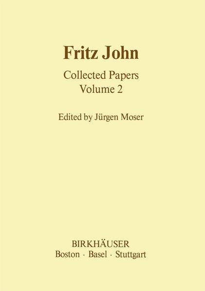 Fritz John Collected Papers - Coverbild