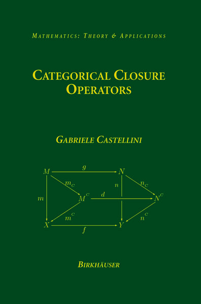 Categorical Closure Operators - Coverbild