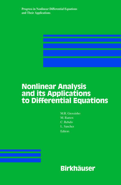 Nonlinear Analysis and its Applications to Differential Equations - Coverbild
