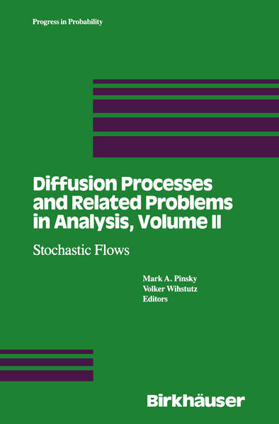 Diffusion Processes and Related Problems in Analysis, Volume II - Coverbild