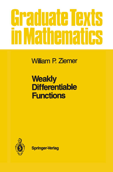 Weakly Differentiable Functions - Coverbild