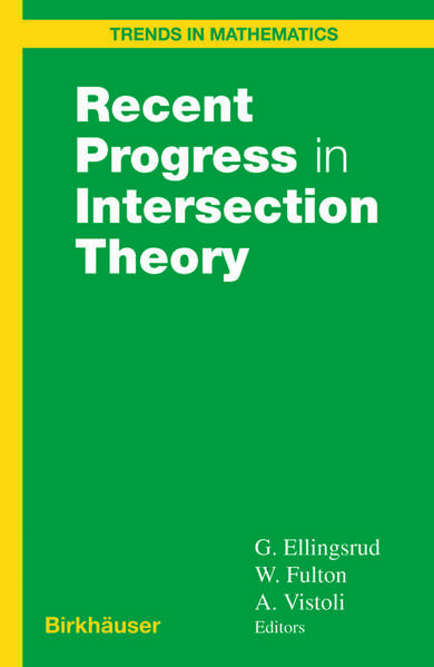 Recent Progress in Intersection Theory - Coverbild