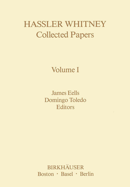 Hassler Whitney Collected Papers Volume I - Coverbild