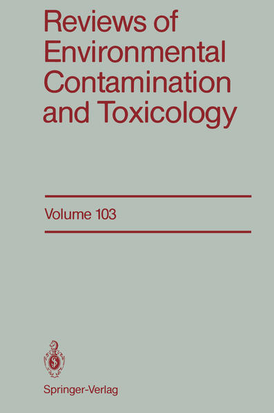 Reviews of Environmental Contamination and Toxicology - Coverbild