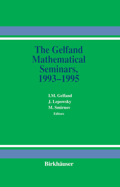 The Gelfand Mathematical Seminars, 1993–1995 - Coverbild
