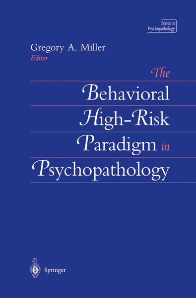 The Behavioral High-Risk Paradigm in Psychopathology - Coverbild