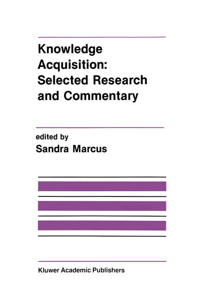 Knowledge Acquisition: Selected Research and Commentary - Coverbild
