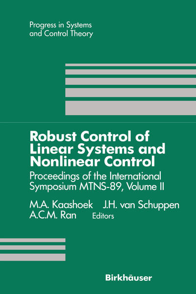 Robust Control of Linear Systems and Nonlinear Control - Coverbild