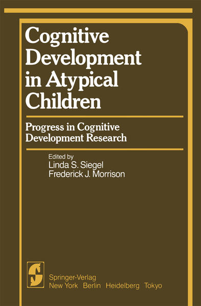 Cognitive Development in Atypical Children - Coverbild
