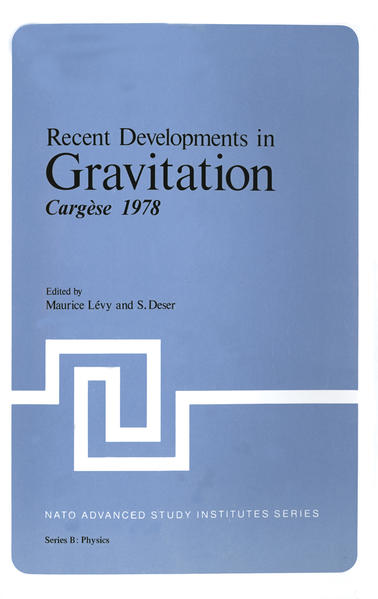 Recent Developments in Gravitation - Coverbild