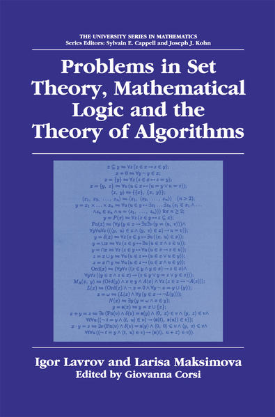 Problems in Set Theory, Mathematical Logic and the Theory of Algorithms - Coverbild