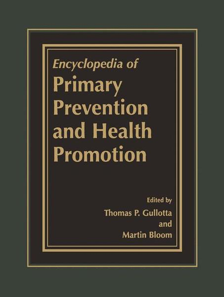 Encyclopedia of Primary Prevention and Health Promotion - Coverbild