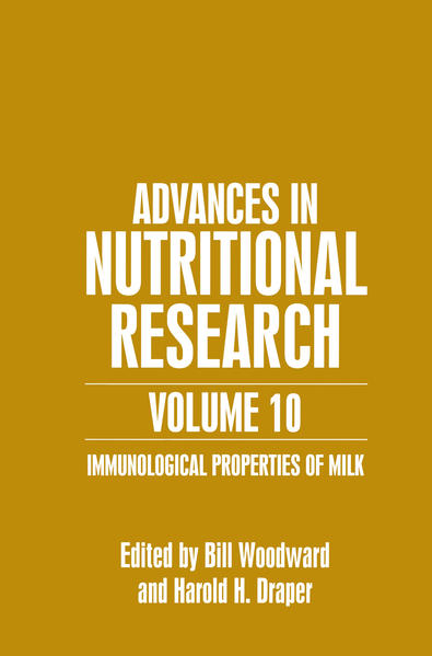 Advances in Nutritional Research Volume 10 - Coverbild