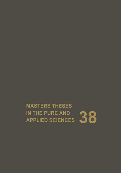 Masters Theses in the Pure and Applied Sciences - Coverbild