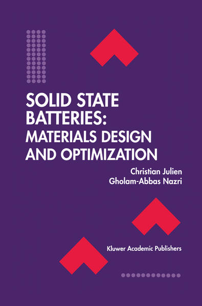 Solid State Batteries: Materials Design and Optimization - Coverbild
