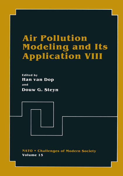 Air Pollution Modeling and Its Application VIII - Coverbild
