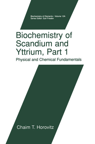 Biochemistry of Scandium and Yttrium, Part 1: Physical and Chemical Fundamentals - Coverbild