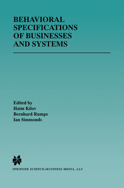 Behavioral Specifications of Businesses and Systems - Coverbild