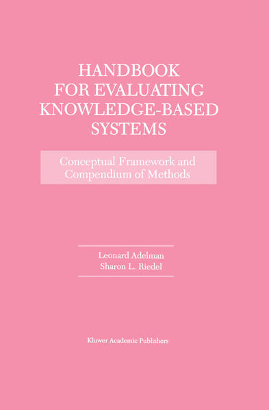 Handbook for Evaluating Knowledge-Based Systems - Coverbild