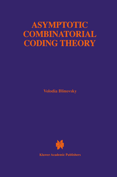 Asymptotic Combinatorial Coding Theory - Coverbild