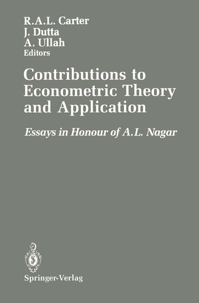 Contributions to Econometric Theory and Application - Coverbild