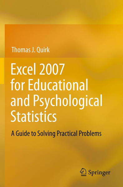 Excel 2007 for Educational and Psychological Statistics - Coverbild
