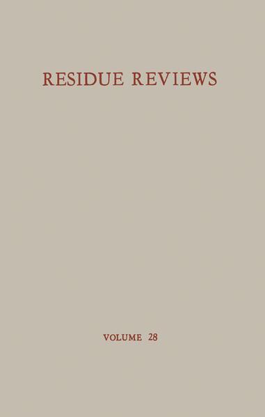 Residue Reviews / Rückstands-Berichte - Coverbild