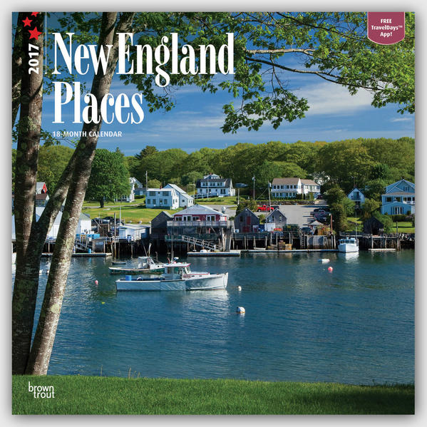 New England Places - Neuengland 2017 - 18-Monatskalender mit freier TravelDays-App - Coverbild