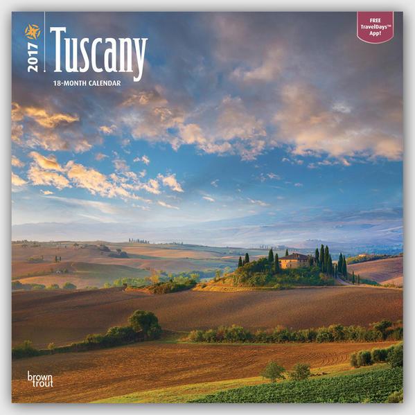 Tuscany - Toskana 2017 - 18-Monatskalender mit freier TravelDays-App - Coverbild