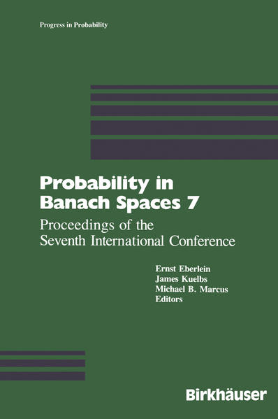 Probability in Banach Spaces 7 - Coverbild