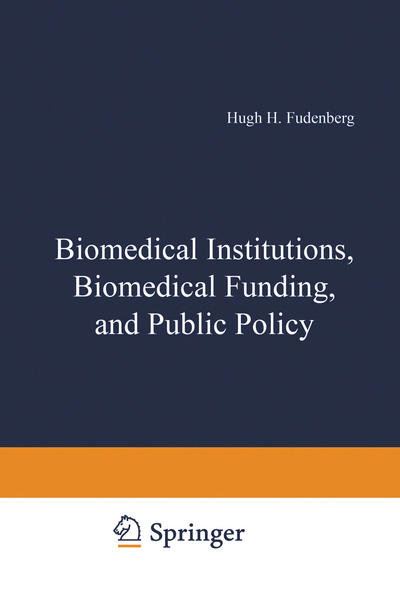 Biomedical Institutions, Biomedical Funding, and Public Policy - Coverbild
