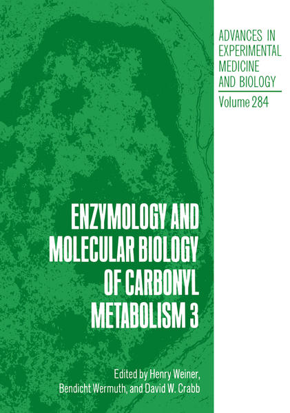 Enzymology and Molecular Biology of Carbonyl Metabolism 3 - Coverbild