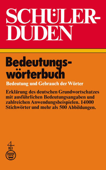 Schülerduden Bedeutungswörterbuch - Coverbild