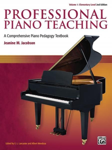 Free Epub Professional Piano Teaching, Volume 1