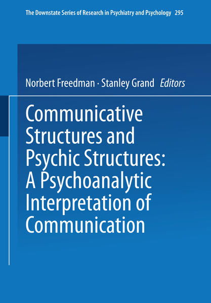 Communicative Structures and Psychic Structures - Coverbild