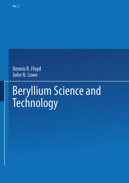 Beryllium Science and Technology - Coverbild