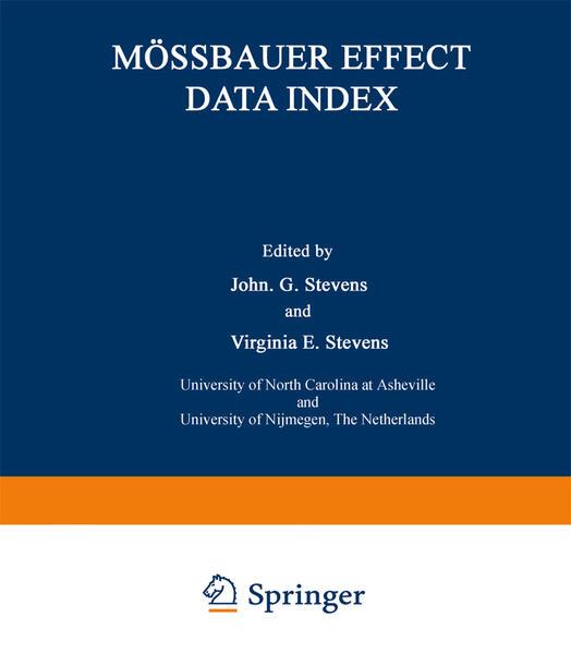 Mössbauer Effect Data Index - Coverbild
