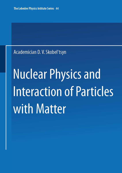 Nuclear Physics and Interaction of Particles with Matter - Coverbild