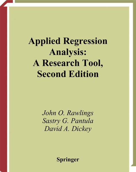 Applied Regression Analysis - Coverbild