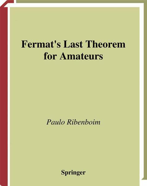 Fermat's Last Theorem for Amateurs - Coverbild