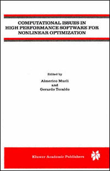 Computational Issues in High Performance Software for Nonlinear Optimization - Coverbild