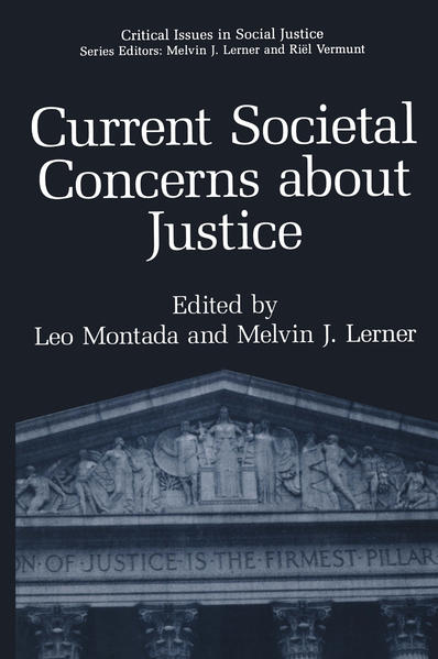 Current Societal Concerns about Justice - Coverbild